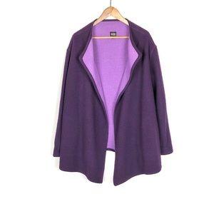 Eileen Fisher Lambswool Open Sweater Cardigan